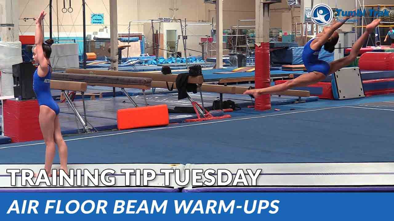 Play Video - Air Floor Beam Warm-Ups