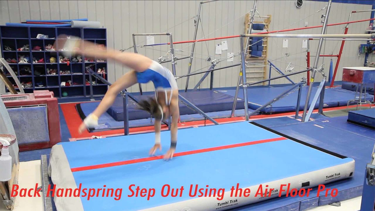 Play Video - Back Handspring Step Out on Air Floor Pro