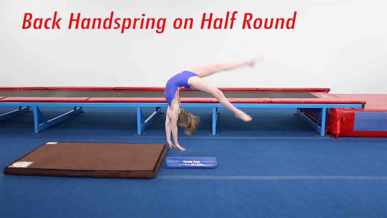 Play Video - Back Handspring using the Half Round