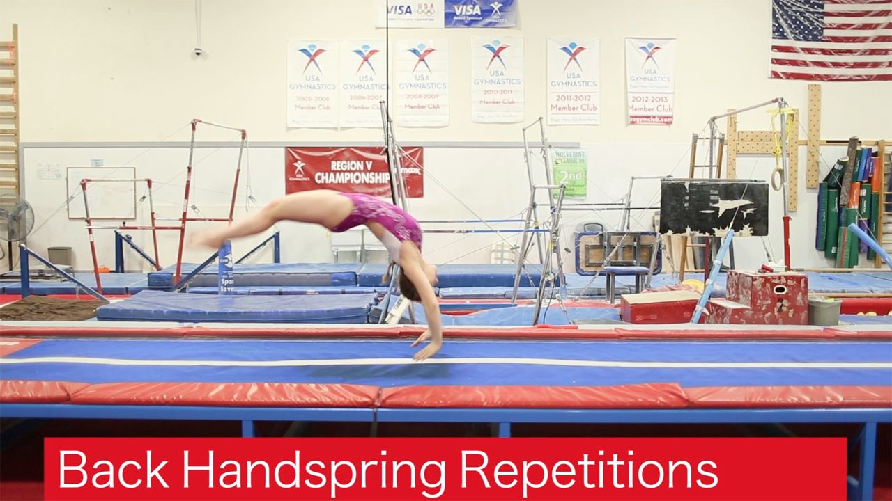 Play Video - Back Handspring Repetitions