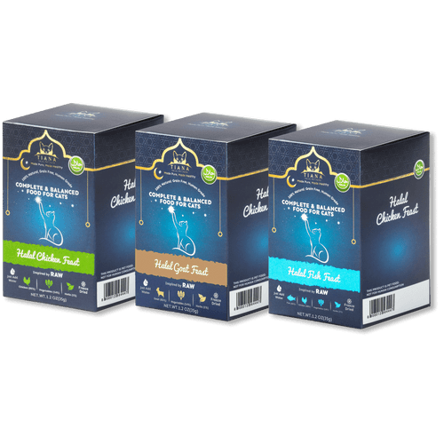 Trial Pack Halal Cat Food Multi Flavours