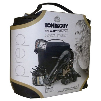 Toni & Guy Ultimate Volume Curl Diffuser Hair Dryer Session Style Kit Gift Set