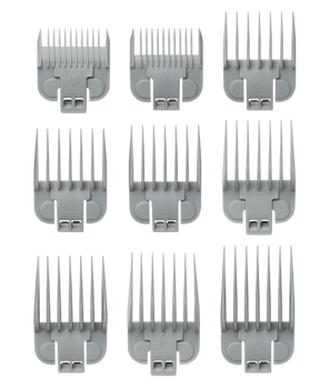 Andis 66350 Snap-On Blade Attachment Combs Guides 9 Set For US-1 Clippers