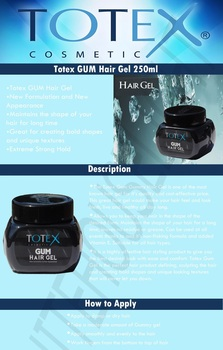 Totex GUM Hair Gel 250ml (36 Pcs Offer)