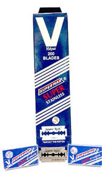 Supermax double edge razor blades 200