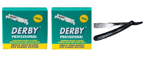 Derby Single Edge Razor Blade With Cut Throat Razors 200