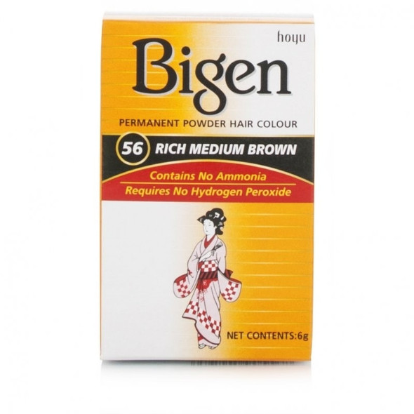 Bigen Rich Medium Brown Permanent Hair Color # 56