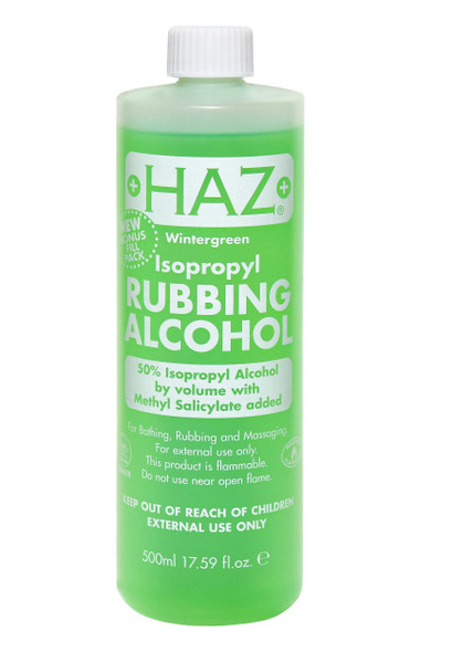 Haz Wintergreen Isopropyl Rubbing Alcohol 70%