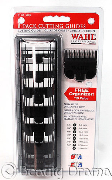 Wahl Professional 8 Pack Clipper Cutting Guides (BLACK)