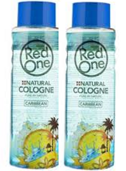 Red One Natural Caribbean cologne 400ml(2 pcs Offer)