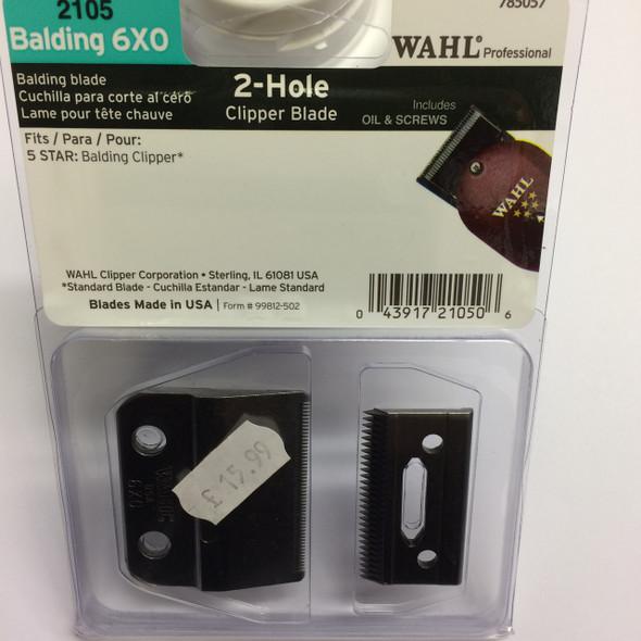 Wahl 2 Hole Clipper Blade - BALDING