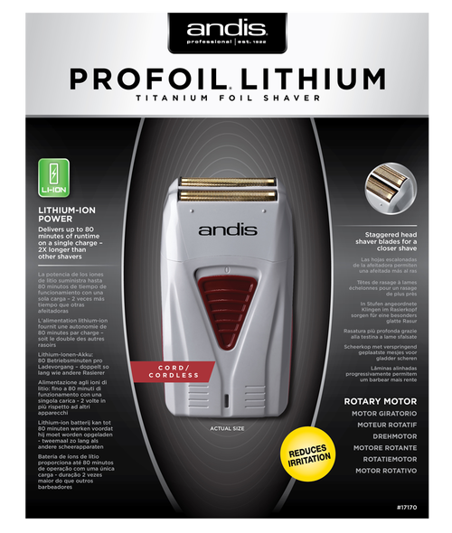 Andis Profoil Lithium (Titanium Foil Shaver) - UK PLUG