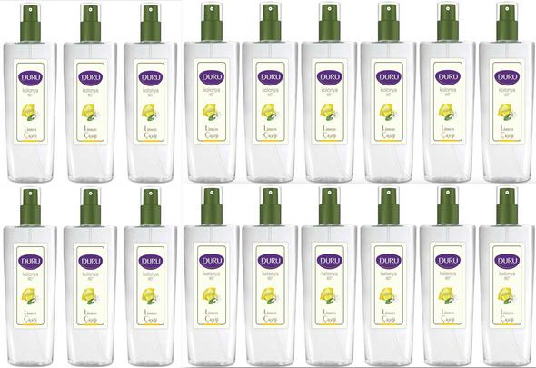 Duru Lemon Cologne (Limon Kolonya) Spray Pump Bottle 150ml-18PCS