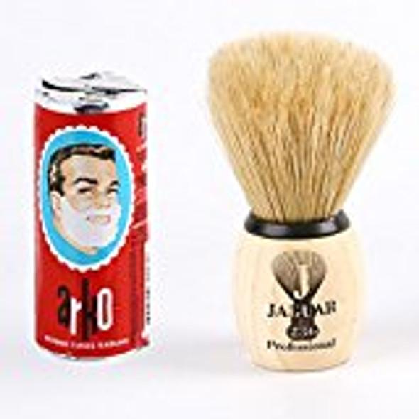 Jaguar Shaving Brush + Arko Shaving Soap Stick 75g Hand Made Boar Bristle Shaving Set Kit Gift