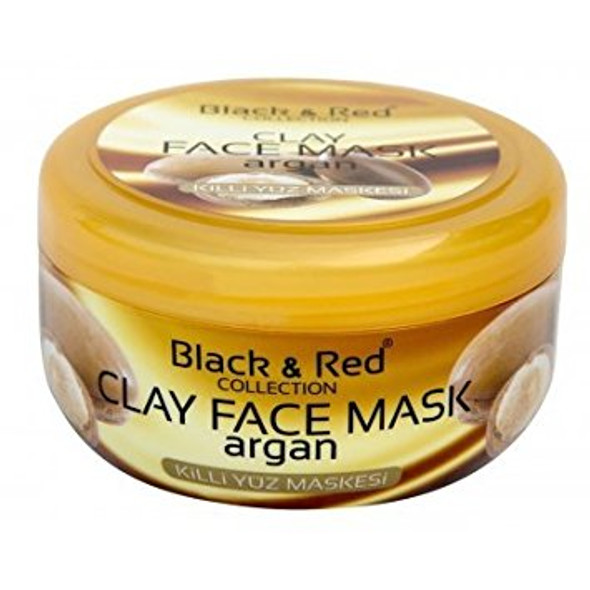 Black & Red Zenix Clay Face Mask With Argan Oil Deep Cleansing Face Mask Black Head Remover Big 400ml Tub Over 300 Applications