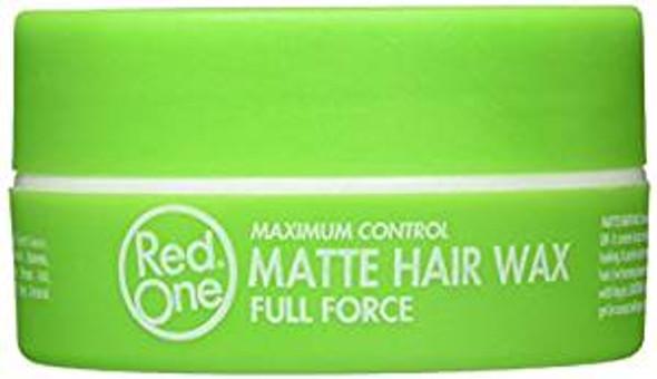 Red One Max Control Green Matt Hair Wax 150 mL