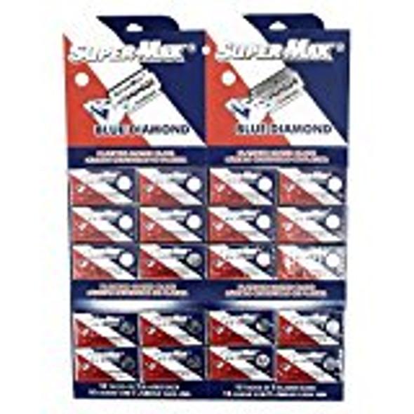 Supermax Blue Diamond Platinum Double Edge Razor Blades (100 Blades)