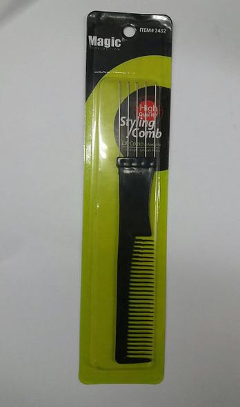 MAGIC Afro Comb High Quality Lift with Metal Pik No.2432 ** 6 PCS **