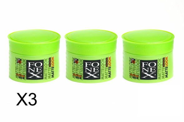 x3 ORIGINAL FONEX MATTE LOOK HAIR STYLING WAX 100ML ***FREE UK DELIVERY***