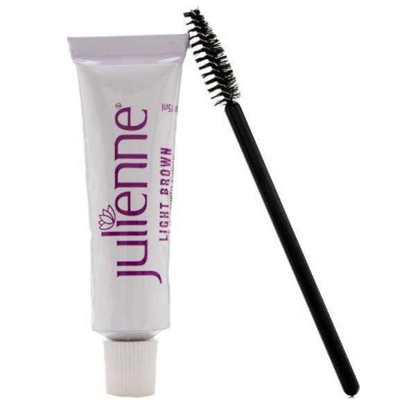 New Julienne Eyelash Eyebrow Tinting Kit Dye Light Brown 04 Brush Tint Dish Oxidant