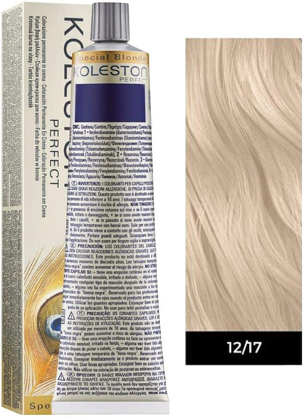 Wella Professionals KP Permanent Haircolor, Number 12/17 (2 Pcs)