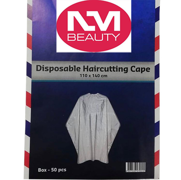 NMB Professional Disposable Gown/Apron/Large Cape for Salons, Hairdressers & Barbers 110x140cm (Pack of 50)