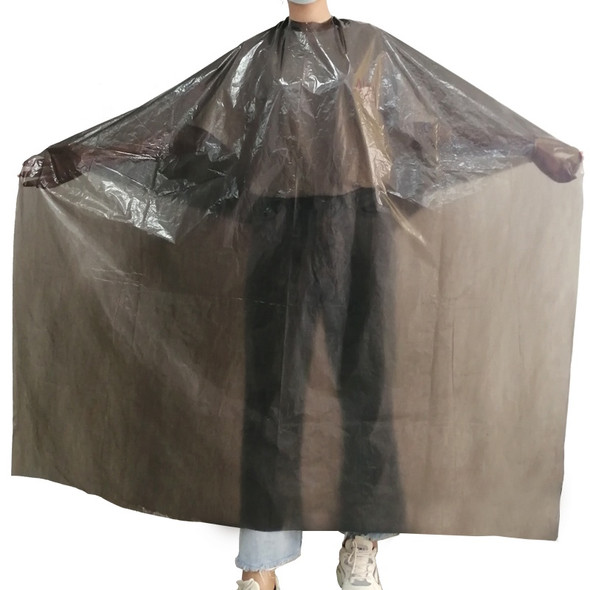 NMB Professional Black Disposable Gown/Apron/Large Cape for Salons, Hairdressers & Barbers 120x150cm (Pack of 50)