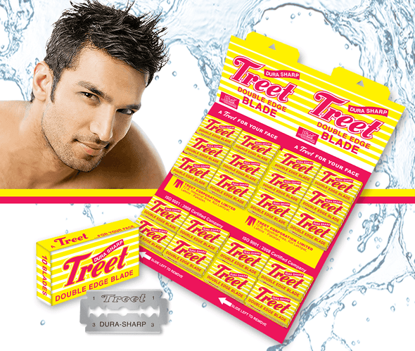 Treet Dura Sharp 200 Razor Blades for Professional Barbers and Salons