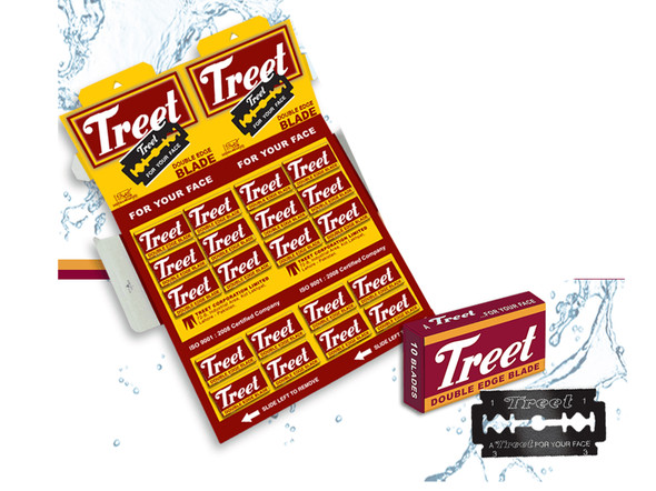 Treet Blade Coated (TRBC) Razor Blades 200 Professional For Barber