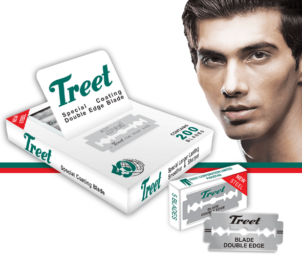 Treet New Steel Professional Razor Blades 200 pcs  for Barbers