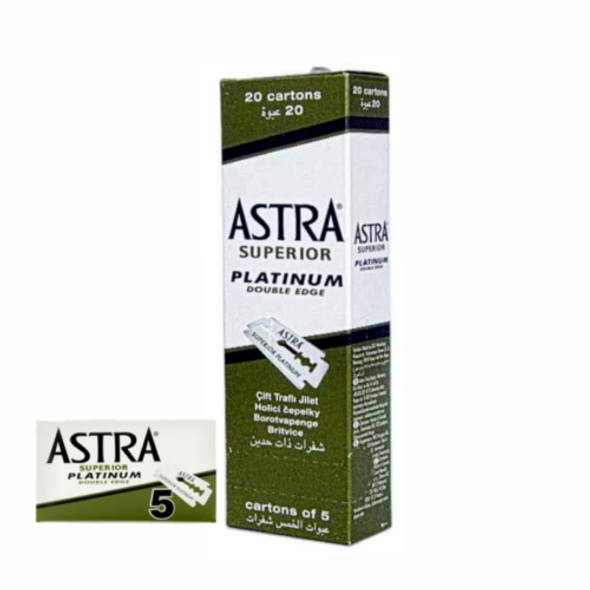 ASTRA SUPERIOR PLATINUM DOUBLE EDGE SAFETY RAZOR BLADES 100PCS