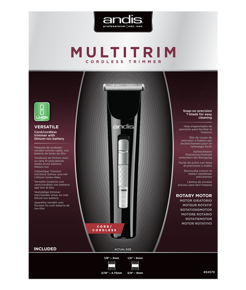 ANDIS MULTITRIM CORDLESS TRIMMER-24570