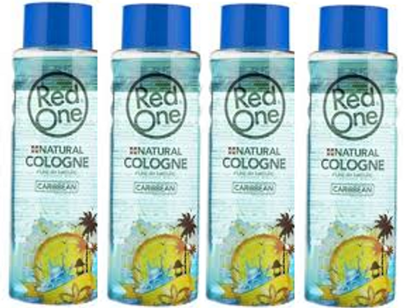 Red One Natural Caribbean cologne 400ml(4 pcs Offer)