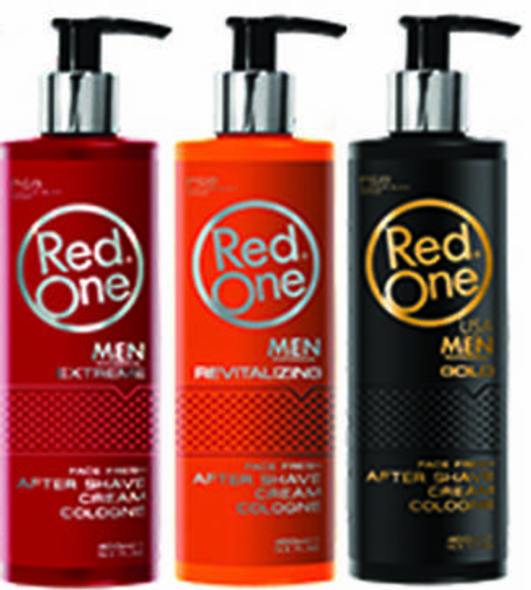 Red One Gold / Revitalizing/ Extreme After Shave Cream Cologne 400ml (3 pcs offer)