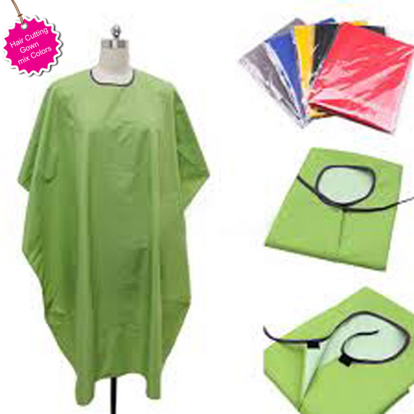 HAIR CUTTING GOWNS  HIGH QUALITY STRONG THREAD GOOD STICHES PARACHUTTE Stuff WASHABLE SIZE(FULL JAMBO SIZE) SOFT DURABLE EASY TO USE EASY TO WEARING FLEXIBILITY WATERPROOF ALL COLORS AVAILABLE
