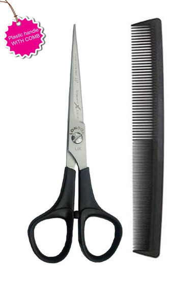 MULTIPURPOSE USAGE: Professional Grade Hair Cutting clippers must be used for the final hair cutting skill, on all kinds of hair. These stylist scissors expert are a must-have for professional stylists, as well as, for home-based individual usage. Perfect for salon workers, barbers, and home use PERFECT PORTABLE GIFT FOR HIM OR HER: These barber shears are precious gift for yourself or you're loved ones. ERGONOMIC DESIGN: Ergonomic design of the barber shears specialized suggestions easy hold and exact grip for that flawless haircut without harmful your hair. Flawlessly associated edges of the stainless steel shears are sharp and offer exactness and correctness for the faultless expert haircut