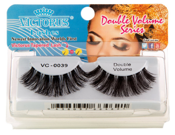 VC-0039 BLACK DOUBLE VOLUME  Strips Lashes