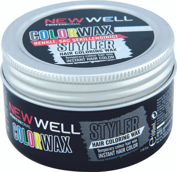 New Well Silver Hair Colour Wax Temporary Dye Styling Cream Wax 100ml
