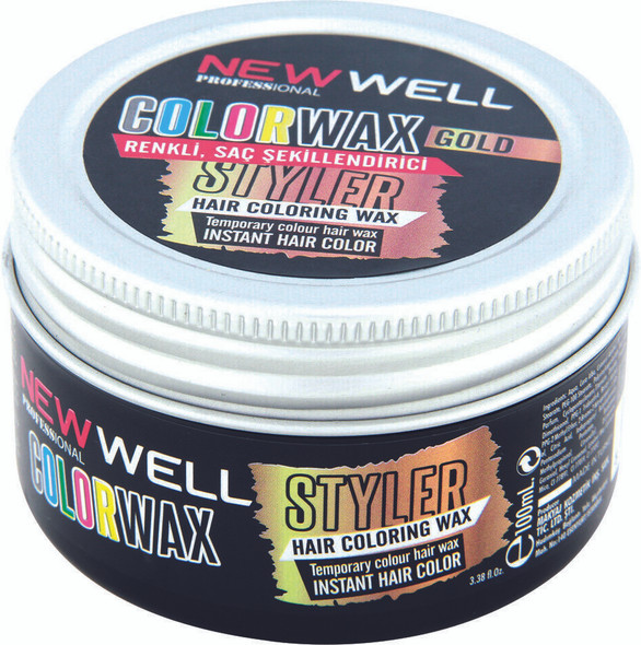 New Well Gold Hair Colour Wax Temporary Dye Styling Cream Wax 100ml
