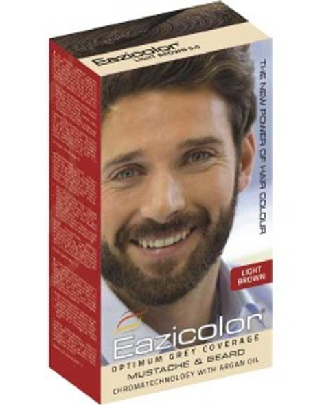 EAZICOLOR MUSTACHE AND BEARD COLOR LIGHT BROWN 5.0