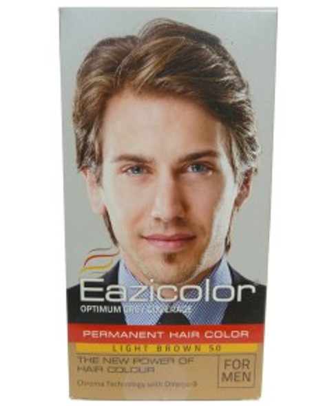 EAZICOLOR PERMANENT HAIR COLOR LIGHT BROWN 5.0