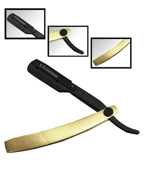 NM BEAUTYbarber straight cut throat shaving razor Hand produced for optimum performance Suitable for single edge/half blades Comes with a pack of 5 double side blades which can snap it to half 10 blades Shaving razor for men grooming barber wet shaving beard trimmer 100% satisfaction guaranteed amazing value of money Used by professionals worldwide Suitable for smooth shaving men's grooming, reducing redness and irritation NM BEAUTY classic single edge shaving razor combines elegant design with exceptional performance
