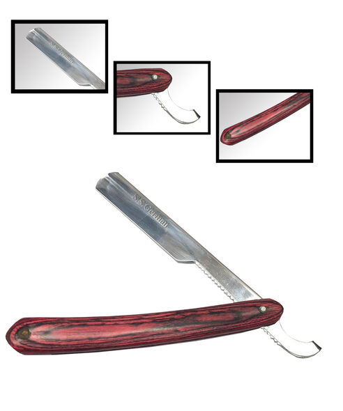 NM BEAUTY barber straight cut throat shaving razor Pure wood hand produced for optimum performance Suitable for single edge/half blades Comes with a pack of 5 double side blades which can snap it to half 10 blades Shaving razor for men grooming barber wet shaving beard trimmer 100% satisfaction guaranteed amazing value of money Used by professionals worldwide, wood handle razor Suitable for smooth shaving men's grooming, reducing redness and irritation NM BEAUTY classic wood handle single edge shaving razor combines elegant design with exceptional performance