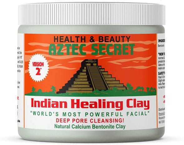 Aztec Secret - Indian Healing Clay 1 lb. (450 Grams) - Deep Pore Cleansing Facial & Body Mask