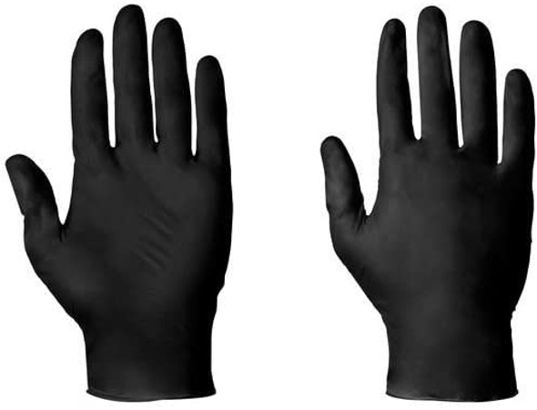 SuperTouch 100 Strong Size Large Black Latex FREE Disposable Gloves Tattoo Artist Hairdresser Gardening Medical Decorator Beauty Salon