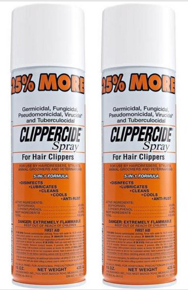 Clippercide Spray for Hair Clippers - 5-in-1 Formula - 15oz||2 PCS OFFER
