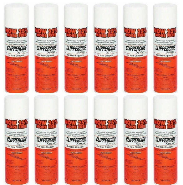 Clippercide Spray for Hair Clippers - 5-in-1 Formula - 15oz||12 PCS OFFER