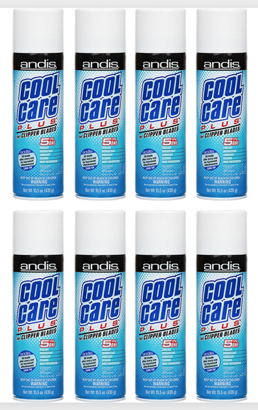 Andis Cool Care Plus Cleaner Spray For Clipper Blades 439 ml (8 Pcs Offer)