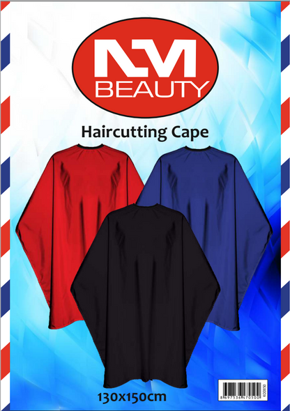 NMB Professional Plain Red Gown/Large Cape for Salons,Hairdressers & Barbers with adjustable black metal clip 130X150cm