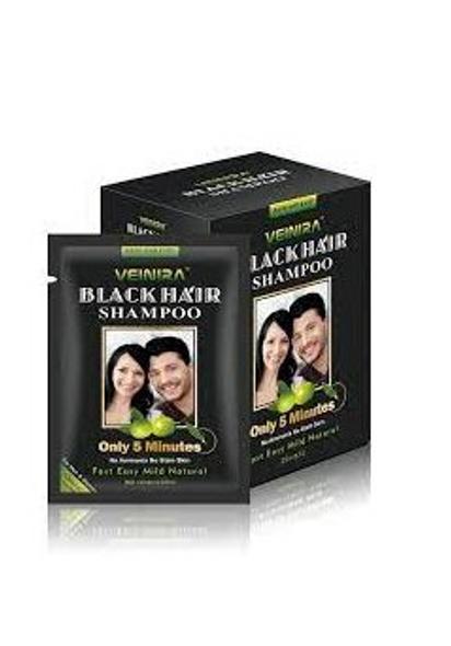Veinira hair color shampoo (Black) 10 packs of 25ml